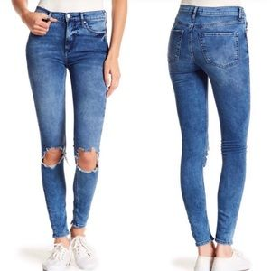 NWT Free People busted knee jeans